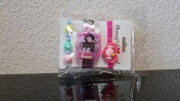 Часы детские с браслетом для маленькой принцессы новый