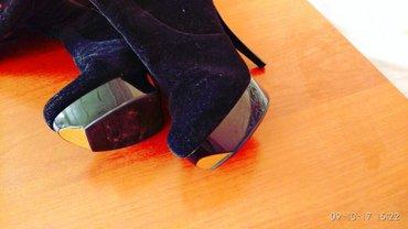 продам сапог замшевая  не разу не одевала 37размер очень очень красиво в Ош