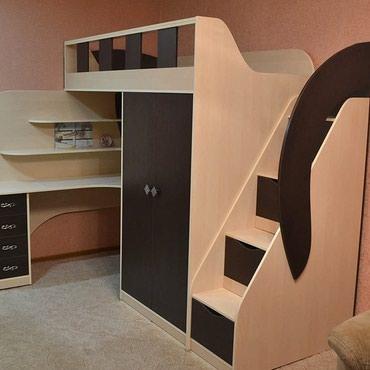 Гарнитуры в Кок-Ой: Кровать + комод + письменный стол + шкаф размер матраса 190/80см то