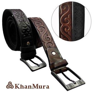 Ремень  натуральная кожа  качество 100%  с кыргызским орнаментом 🇰🇬 в Бишкек