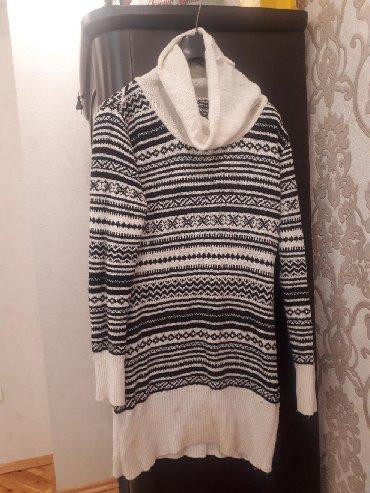 женские-белые-свитера в Азербайджан: Satılır Romantica mağazasından alınmış M-L ölçülü vodalas tunik.1-2