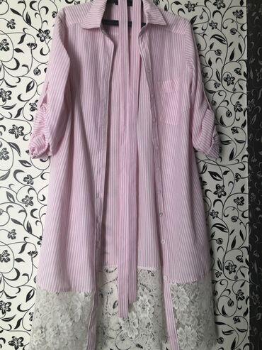 платья рубашки свободного кроя в Кыргызстан: Платье Свободного кроя Bershka L