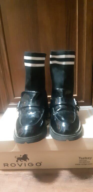 Детское деми ботинка,люкс качествосостояние отличное .размер 34-35