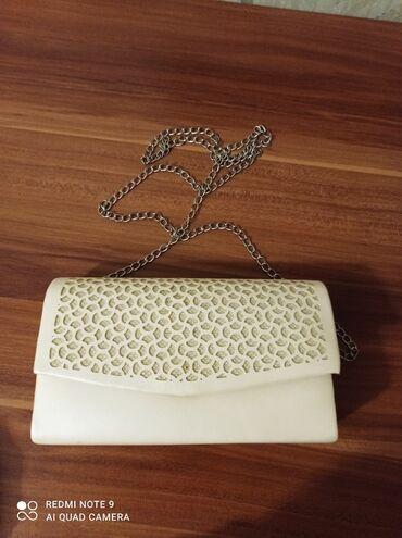сумка juicy couture в Кыргызстан: Клатч белый кож.Varolli.Состояние идеальное
