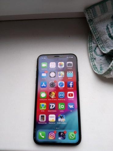 Продаю iphone x идеал черный 64gb, коробка, доки в комплекте в Бишкек