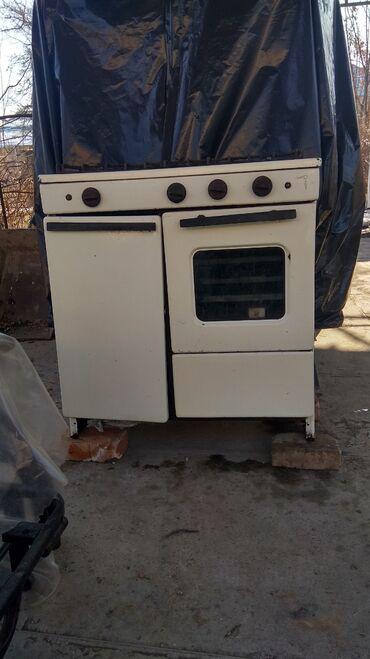 Плиты и варочные поверхности - Кыргызстан: Газовая плита с духовкой, 3 противня (можно печь пироги),3 комфорки
