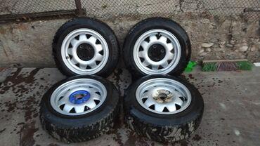 r14 диски в Кыргызстан: Продаю легкосплавные диски с резиной зима r13 fondmetal cup 4x100 vw