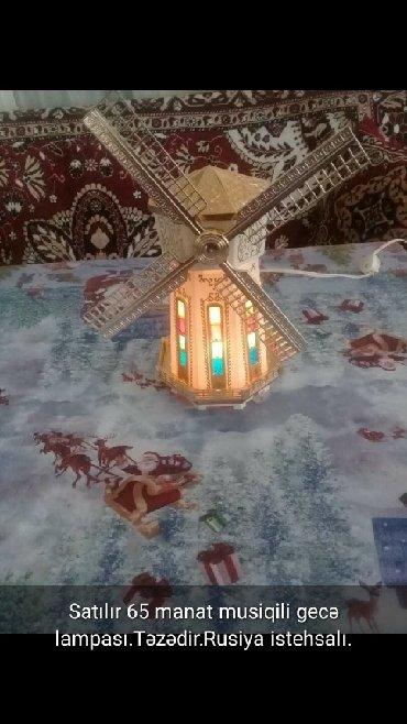 Satilir45manat musiqili deyirman gece lampasi. Qiymetinde endirim