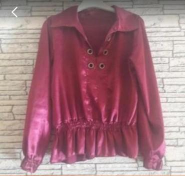 qoroşkalı qadın bluzu - Azərbaycan: Atlas bluz kofta 38 razmer