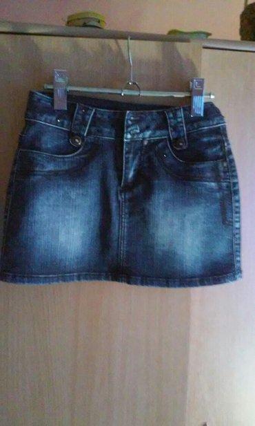 Predivna,mini teksas suknja,kvalitet savrsen,cotton 96%,elastin - Vrnjacka Banja