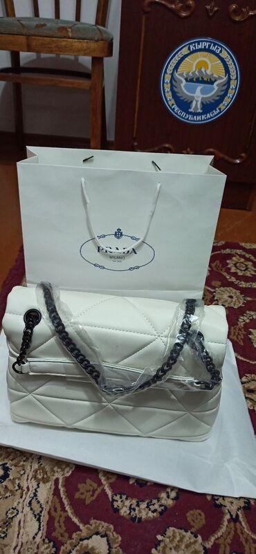 сумка жен в Кыргызстан: Женская сумка Prada Milano под оригинал, очень красивая сумка