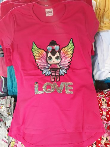 LOL svetleće majice za devojčice, veličine 3-4, 4-5, 5-6, 6-7 i 7-8