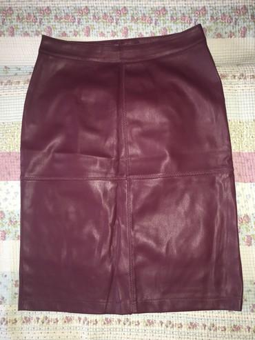 Vila бордовая юбка, кож зам, новая, размер: S