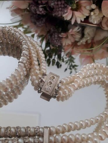 браслет пандора бишкек in Кыргызстан | БИЛЕРИКТЕР: Ожерелье роскошное новое из натурального жемчуга в три ряда плюс брасл