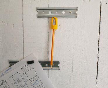 Держатель карандаша магнитный, с точилкой.  Материал корпуса: Пластик