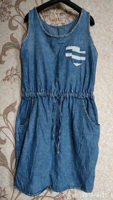 Платье или туника джинса, разм 46-48, в отл состоянии - 250 сом в Бишкек