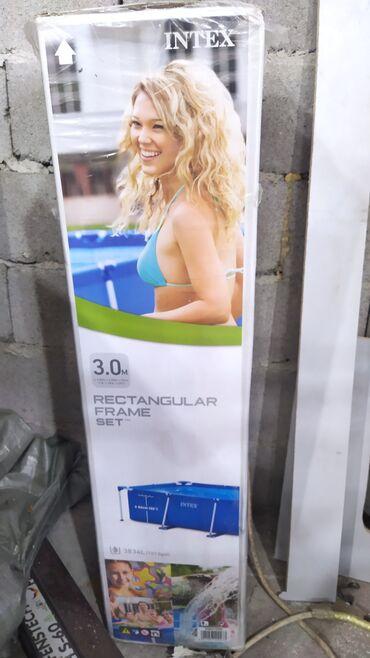 Спорт и хобби - Дачное (ГЭС-5): Продаю новый бассейн в упаковке размер 2×3 высота 76 см, материал