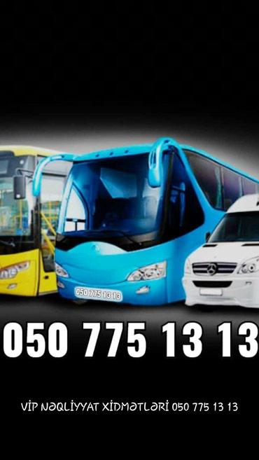 Bakı şəhərində 4-78 nəfərlik mikroavtobuslar və avtobuslar xidmətinizdədir.