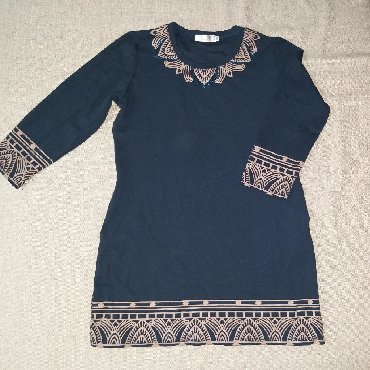 тунику платье в Кыргызстан: Платье- туника трикотажныеСостояние идеальноеЦвет темно синийРазмер