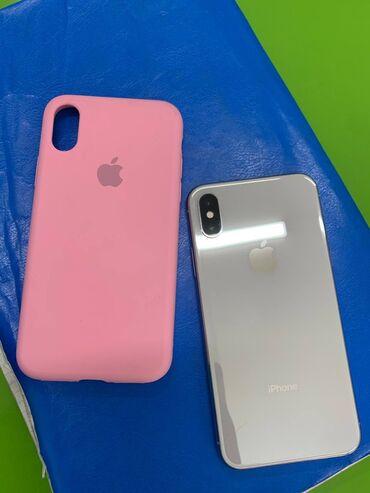 Колдонулган iPhone X 256 GB Ак
