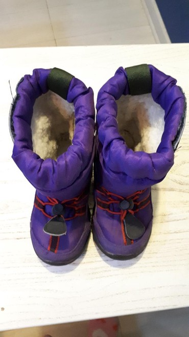 сапожки 21 размера в Кыргызстан: Детские зимние сапожки фирмы Kamik привезены из США 21-22 размер б/у