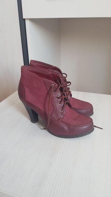 Cipele na stiklu - Srbija: Bordo cipele na stabilnu stiklu,izuzetno ocuvane