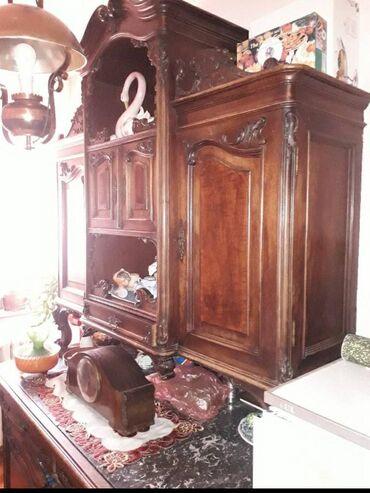Kredenac | Srbija: Prodajem ručno rađeni kredenac od orahovine i ploče od mermera(malo