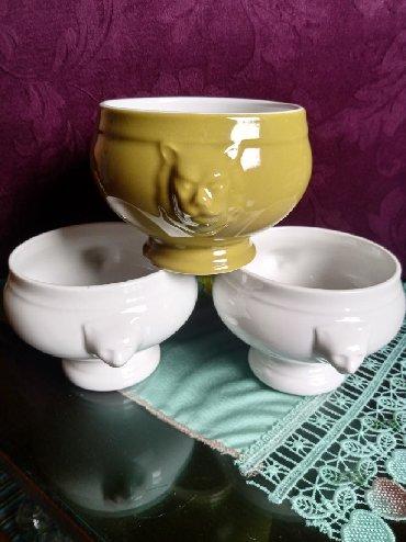 Kuhinjski setovi - Kraljevo: Porcelanske nove posude za sutlijas,puding i sl. kom