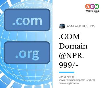 Buy Domain in Nepal with special offers -Agm Web HostingRegister .COM