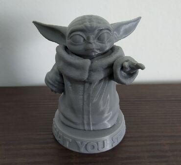 Figura - Srbija: Figurica Baby Yoda napravljena 3d štampom. Visina figurice je