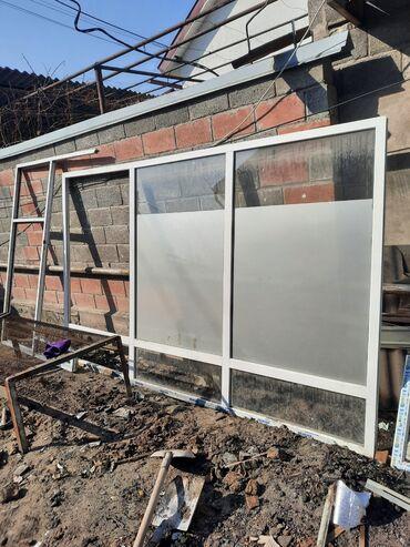 Пластиковые окна и перегородки бу размер 3.70×220