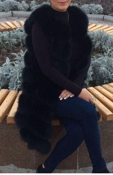 Личные вещи - Кыргызстан: Жилетка.Натуральная.Состояние супер! Размер 44-46.Цвет чёрный