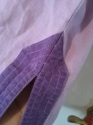Tunika za krupnije dame od lana,prelepo stoji,nije nosena - Sombor - slika 4