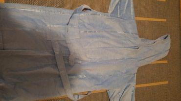 Plisani-cmsirina-ramena - Srbija: Bade mantil plava boja,nov,raspakovan,plisani,topao
