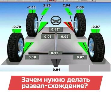 развал схождение в Кыргызстан: Рулевое управление | Ремонт деталей автомобиля