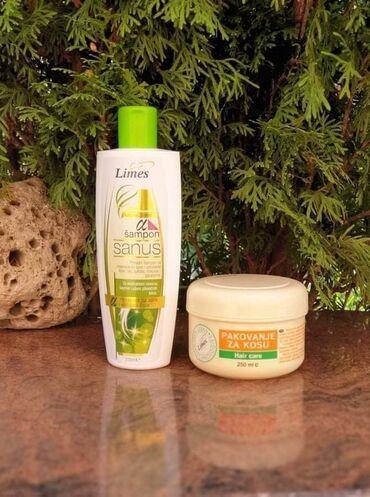 Kosa prirodna - Srbija: Prirodni šampon SANUS bez sulfata i parabena za regeneraciju kose
