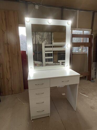 комод с зеркалом бишкек в Кыргызстан: Визажный столСтол для макияжа Гримёрный столКомод с зеркаломНовый с