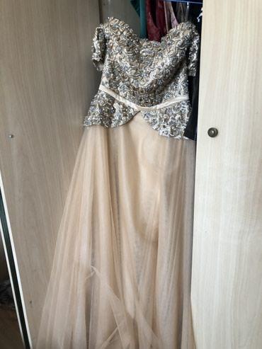 Платье с открытыми плечами , носилось в Бишкек