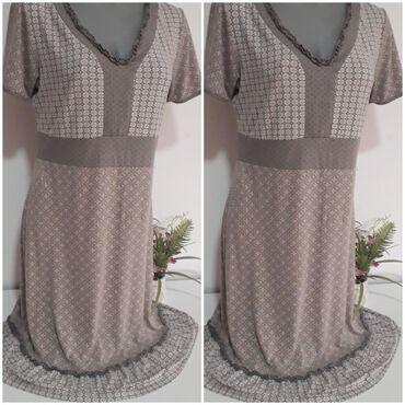 Haljine | Obrenovac: Street one Pamučna haljinica kapućino boje vel L/XL, očuvana, dužina