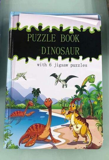 🥰Za ljubitelje Dinosaurusa Knjiga puzzla sa motivom dinosaurusaSadrži