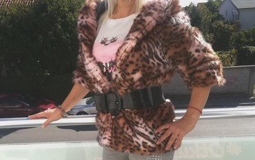 Print-postavljen - Srbija: Ekskluzivna Leopard PRINT bunda Novo