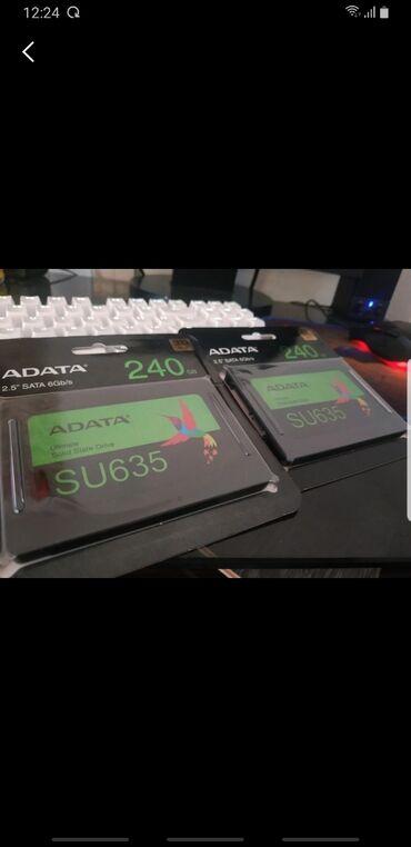 Жесткие диски, переносные винчестеры - Кыргызстан: Ssd новый не вскыртый накопитель adata su 635 240gb  Объем накопителя