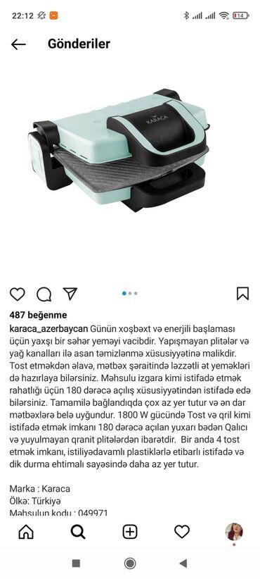 Toster təzə pakofkadadi 100azne alınıb 60a satılır Karacanindi