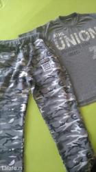 Jedna-majca - Srbija: Pantalone i majca vel. 14, kao novo,nošeno par puta