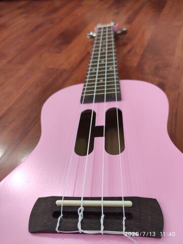 купить пластиковый шифер в бишкеке в Кыргызстан: Розовая гавайская гитара Укулеле КОНЦЕРТ 23 ROSÉ HВ полной