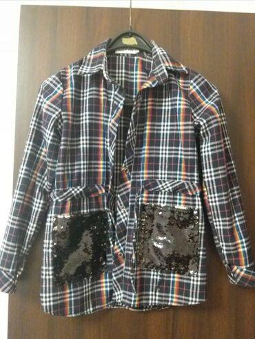 теплые рубашки в клетку в Кыргызстан: Продаётся рубашка тёплая с пайетками Платье в клетку 300сПлатье