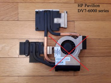 HP Pavilion DV7-6000 üçün radiator