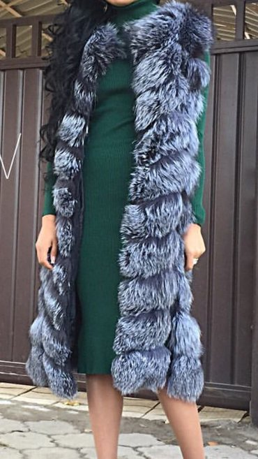 Продается желетка натуралка (чернобурка) длинная ниже колен, одевала п в Бишкек