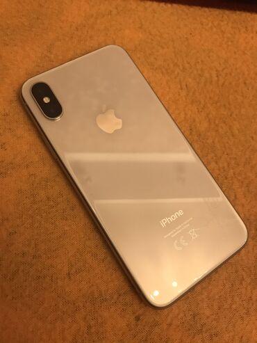 Колдонулган iPhone X 64 GB Ак