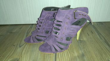 Sandale na kaiseve,ljubicaste boje,udobne i stabilne,br 39,jednom - Belgrade